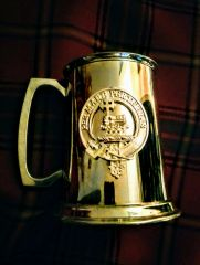 Pewter Tankard Clan MacDonald - Edwin Blyde of Sheffield