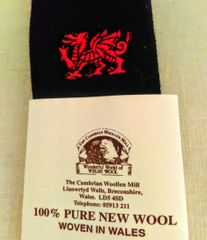 Tie - Welsh Dragon (Cymru) from The Cambrian Woollen Mills