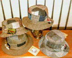 Irish Tweed Patchwork Walking Hat - Hanna Hats of Donegal
