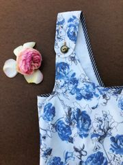 Japanese Style Floral Twill Apron