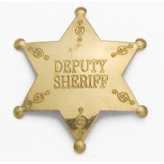 Old West Denix Replica Deputy Sheriff Badge – Antiqued Brass Finish