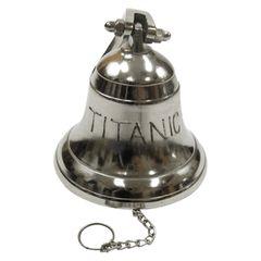 Miniature Titanic Ship Bell Replica in Aluminum