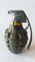 Cast Iron Body WWII MkII Style Pineapple Grenade with M10A2 fuse