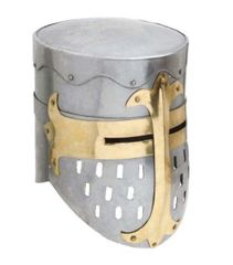 Knights Templar Crusader Helmet with Lining Medieval Armor Replica 18G Steel