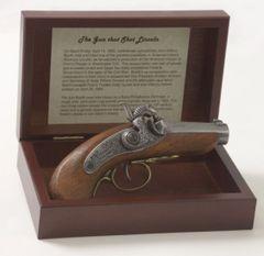 Civil War Lincoln Assassination Replica Baby Derringer Pistol Box Set