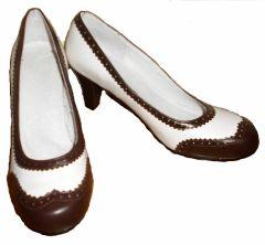 1940 TWO TONE Brown & White Spectators Women Shoes