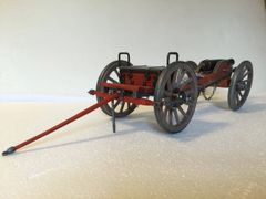 "Miniature Decorative US 1861 Civil War Cannon & Limber 20"" Long"