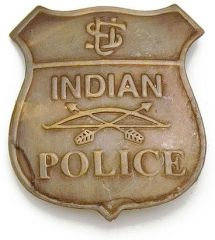 Indian Police Badge by Denix - Antique Brass Finish