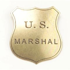 Old West Denix Replica U.S. Marshall Badge – Antique Brass Finish