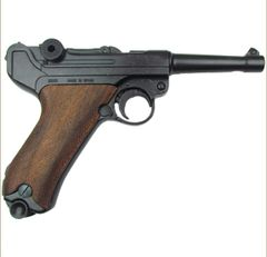WWI - WWII German Luger Parabellum P-08 Wood Grips Non-Firing Replica