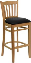 13. Wood American Bulldog Restaurant Bar Stool