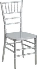 02. Resin Chiavari Chair Silver Frame