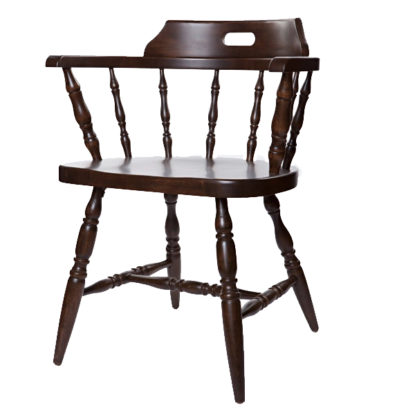 81. Captain's Arm Chair Wood Frame Wood or Upholstered Seat