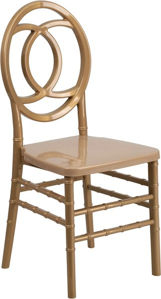 11. Resin Chiavari Royal Chair Gold Frame