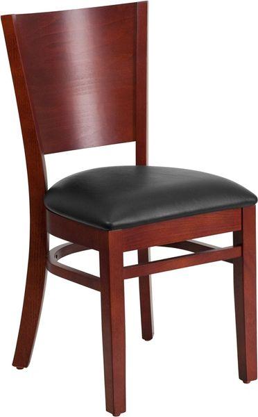 05. Wood Full Back Restaurant Dining Chair