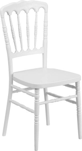 22. Resin Chiavari Napoleon Chair White Frame