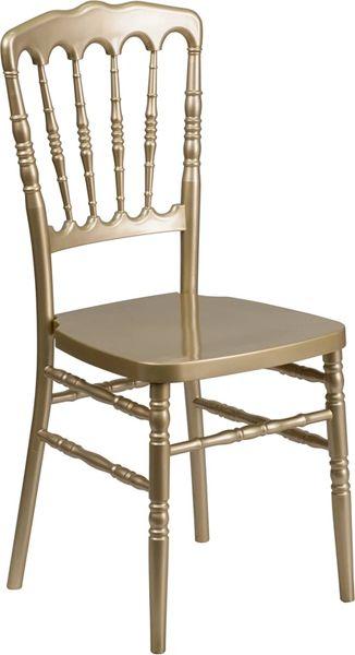 21. Resin Chiavari Napoleon Chair Gold Frame