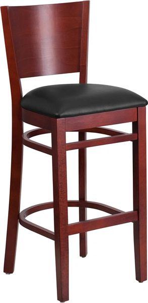05. Wood Full Back Restaurant Bar Stool