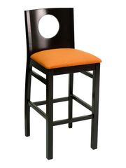 Wood Portal Back Upholstered Padded Seat Restaurant Dining Bar Stool