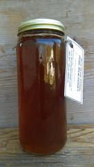 Honey, 16 ounces pure, raw, unfiltered wildflower honey