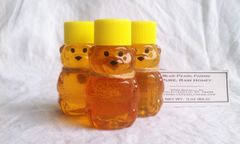 Honey Bears, 2 oz. pure, raw wildflower honey
