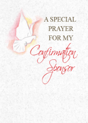 SP411 A SPECIAL PRAYER FOR MY CONFIRMATION SPONSOR