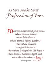 LS200 AS YOU MAKE YOUR PROFESSION OF VOWS