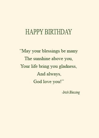 Bd7 An Irish Birthday Blessing Life Greetings Catholic Christian