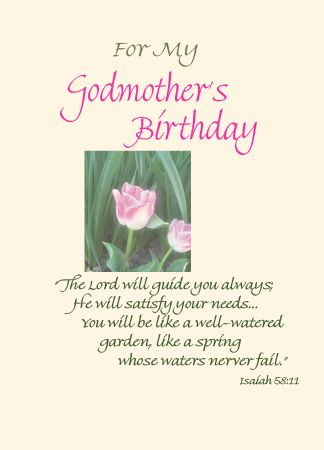 For My Godmothers Birthday