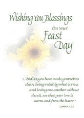 Feast day life greetings catholic christian all occasion fd210 wishing you blessings on your feast day m4hsunfo