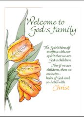 NC103 WELCOME TO GOD'S FAMILY