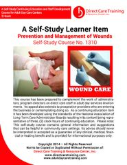 Adult Foster Care Course No. 1119 - Wound Care Management (8 CEUs)