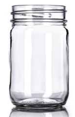 12 oz mason jars clear glass - 12 ounce - 12 per case