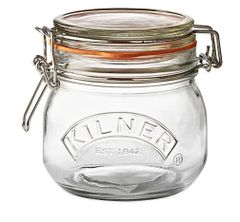 17oz Kilner Round Top Clear Glass 17 ounce Jar