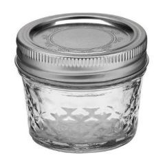 4 oz Crystal Jelly Jars with Lids and Bands - Set of 12