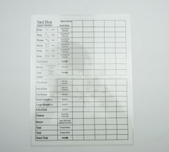 Yard Dice - Farkel Score Sheet