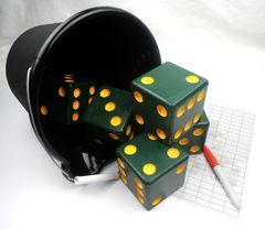Packer Wooden Yard Dice - Set of 5