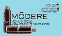 Modere Business Card Blue