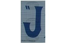 J - Photographic Letter Magnet