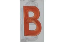B - Photographic Letter Magnet