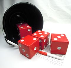 Badger Wooden Yard Dice - Set of 5