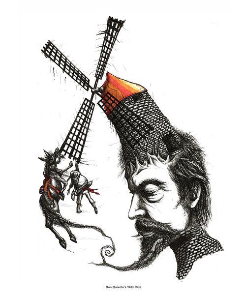 don quixote windmills quote