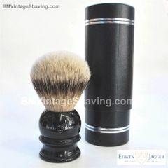 Edwin Jagger English Shaving Brush Silver Tip Badger XL