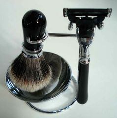 Ebony Shaving Set 4pc