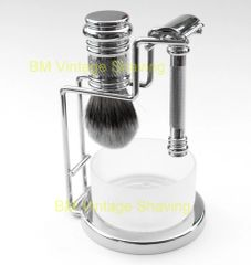 Merkur 4pc Barber Pole Shaving Set