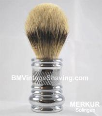 Merkur Barber Pole Shaving Brush 24mm Chrome