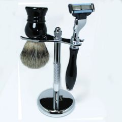 Shaving Set Mach3 Razor & Brush Ebony