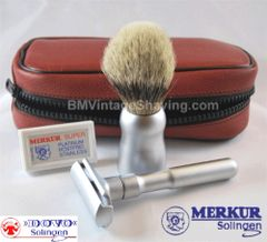 Dovo/Merkur Travel Shaving Set Satin