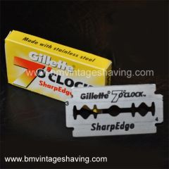 Gillette 7 clock Sharp Edge Blades