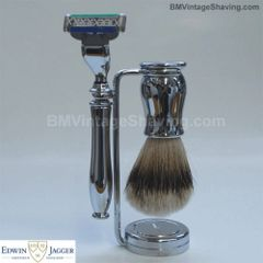 Edwin Jagger Chatsworth Mach3 Shaving Set Chrome